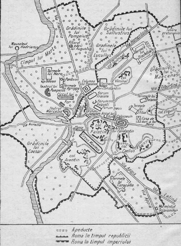 Hărți Planul Romei Antice 12 Din 12 Www Limbalatina Ro
